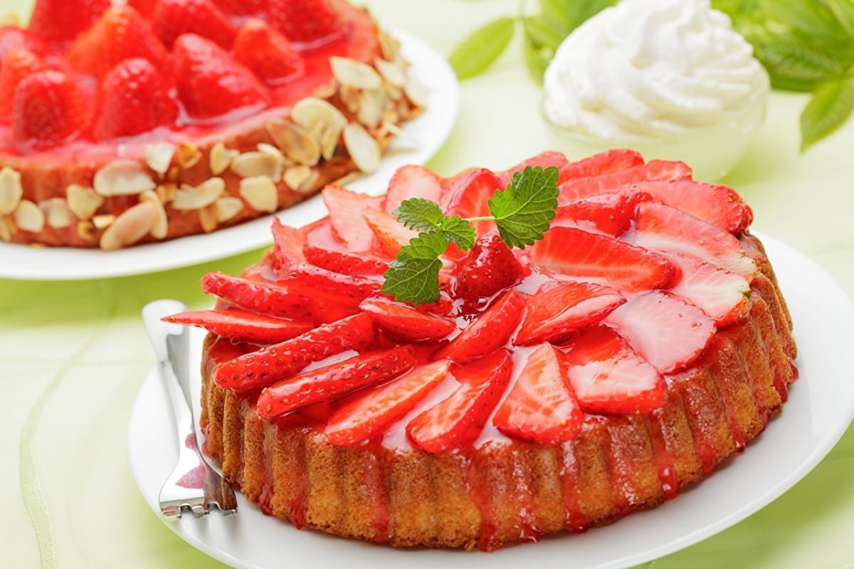 Пазл Собирать пазлы онлайн - Клубничный тарт