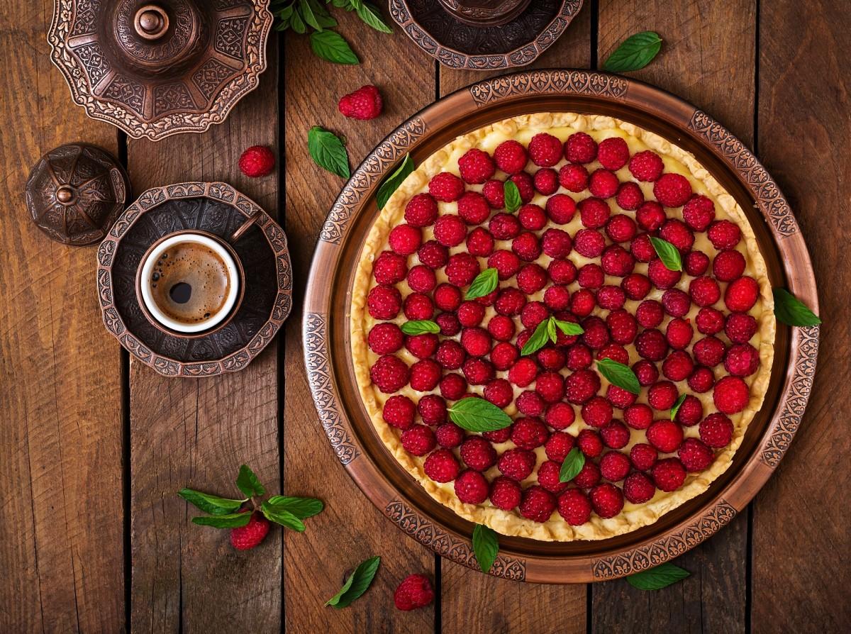 Пазл Собирать пазлы онлайн - Кофе и пирог