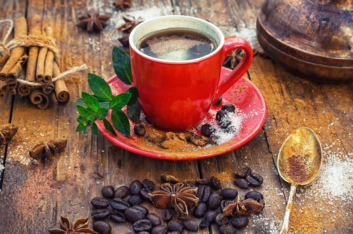 Пазл Собирать пазлы онлайн - Кофе с корицей