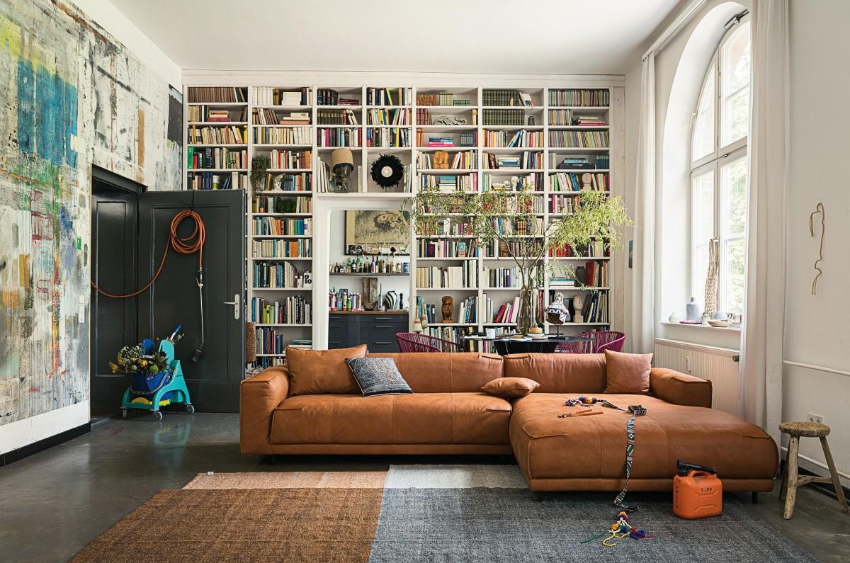 Пазл Собирать пазлы онлайн - Комната с книгами