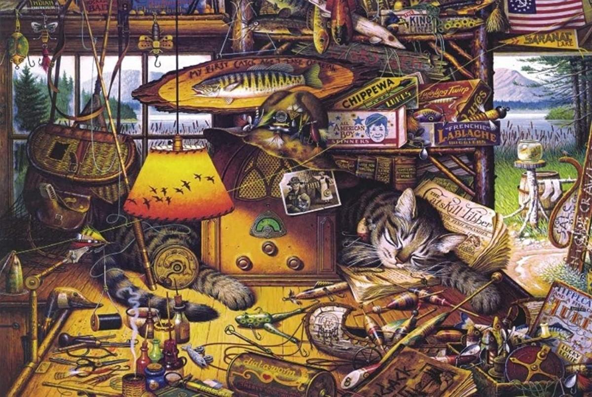 Пазл Собирать пазлы онлайн - Кот рыбак