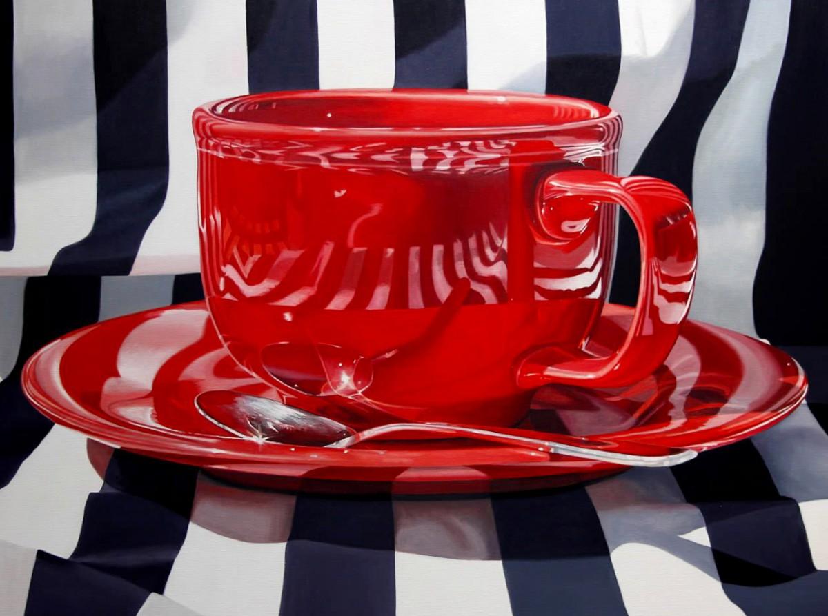 Пазл Собирать пазлы онлайн - Красная чашка