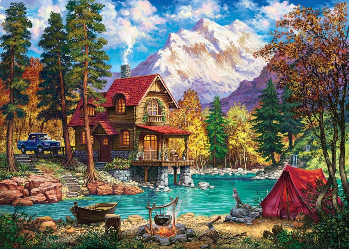Пазл Собирать пазлы онлайн - Красная палатка