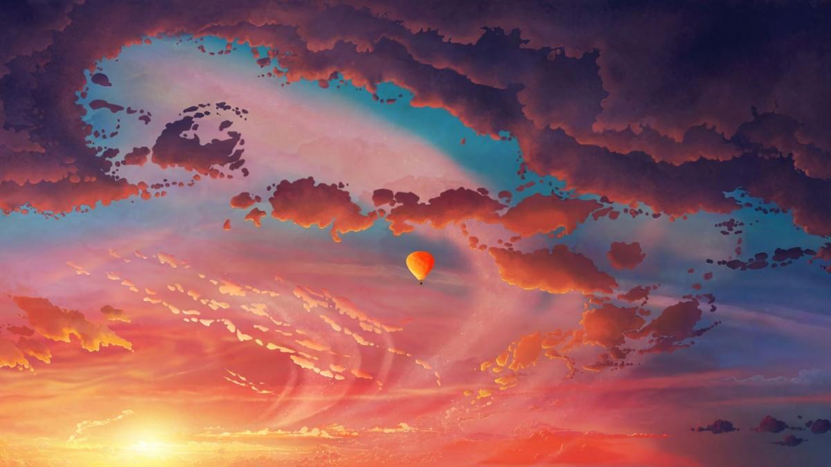 Пазл Собирать пазлы онлайн - Красные облака