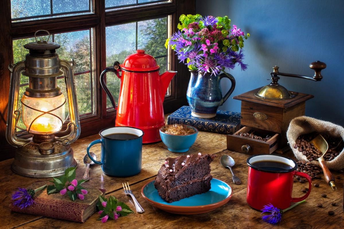Пазл Собирать пазлы онлайн - Красный кофейник