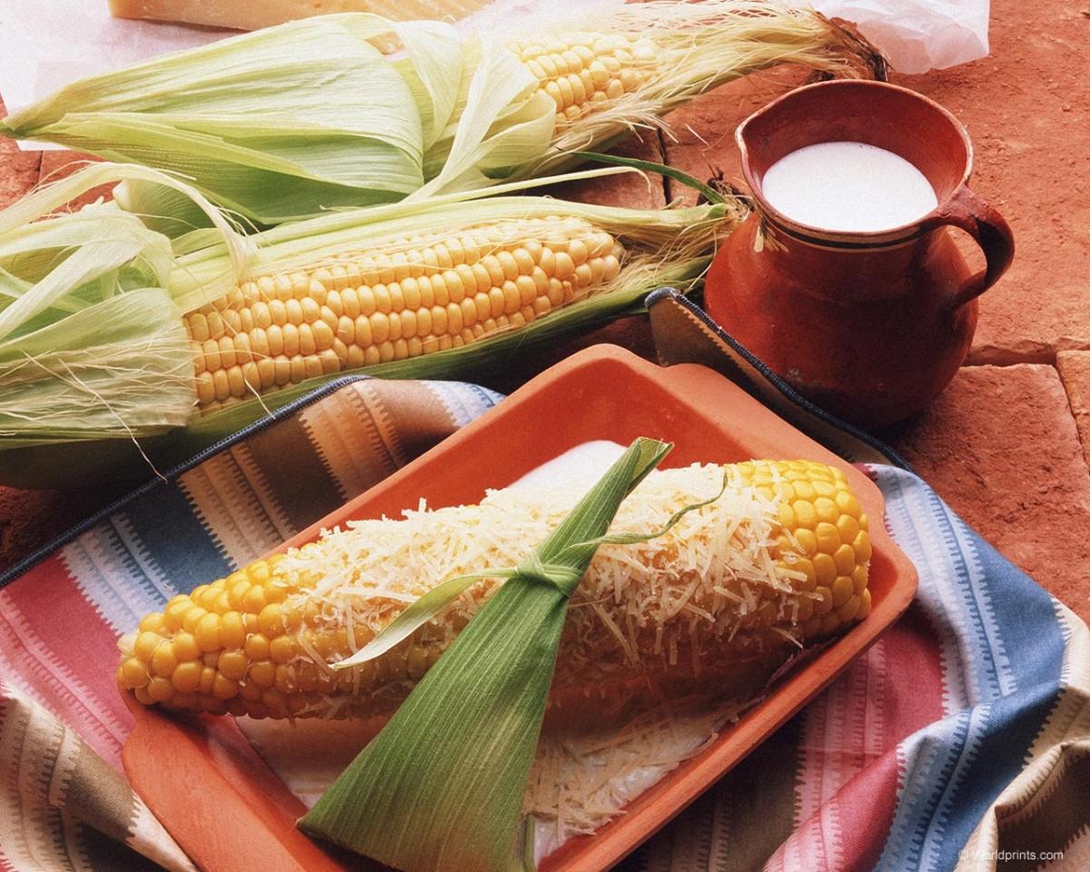 Пазл Собирать пазлы онлайн - Кукуруза и молоко