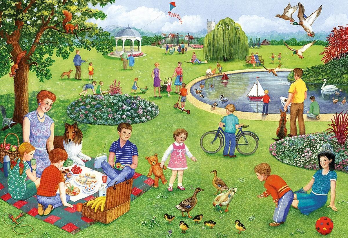 Пазл Собирать пазлы онлайн - Летом в парке