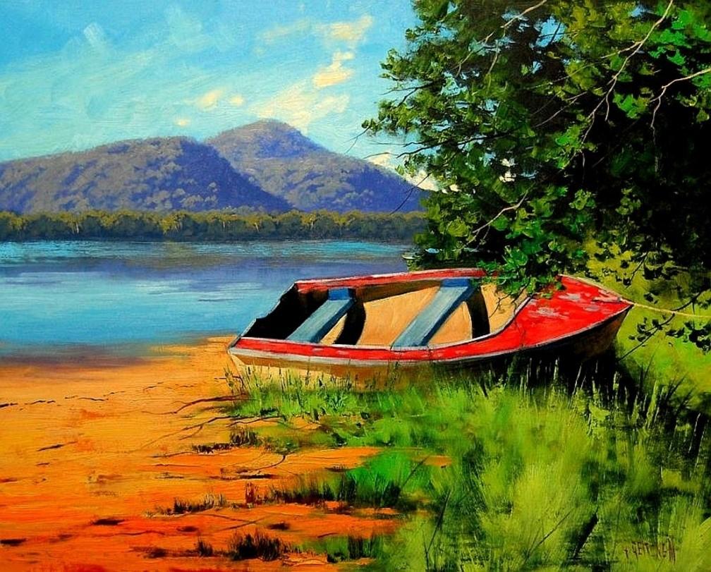 Пазл Собирать пазлы онлайн - Лодка