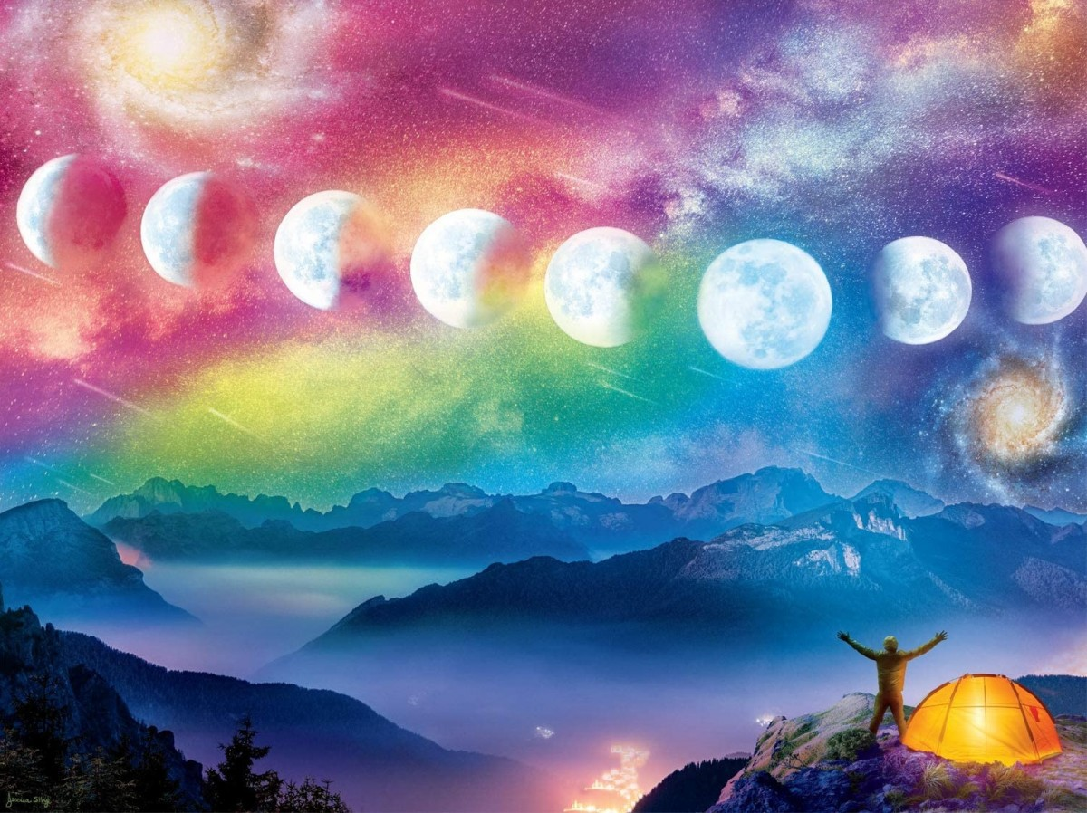 Пазл Собирать пазлы онлайн - Лунный цикл