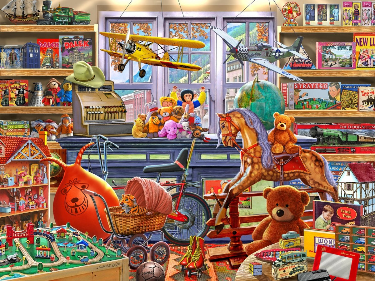 Пазл Собирать пазлы онлайн - Магазин игрушек