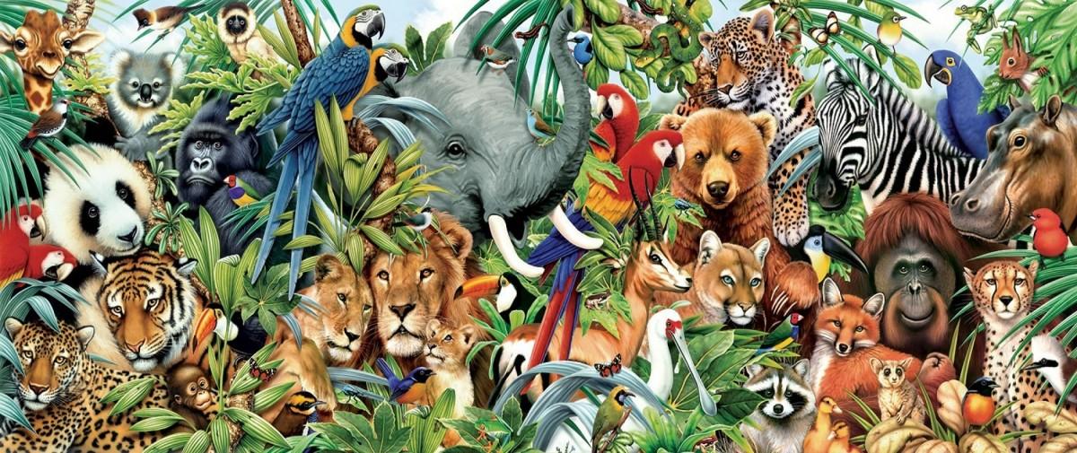 Пазл Собирать пазлы онлайн - Мир животных