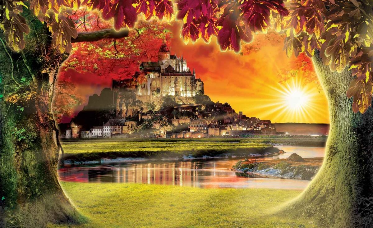 Пазл Собирать пазлы онлайн - Mont St Michel