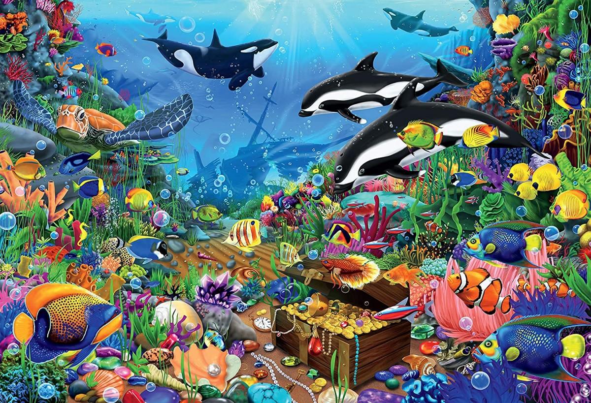 Пазл Собирать пазлы онлайн - Морские сокровища