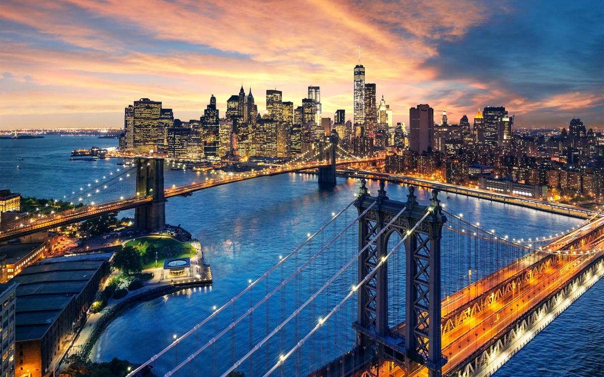 Пазл Собирать пазлы онлайн - Мосты Нью-Йорка