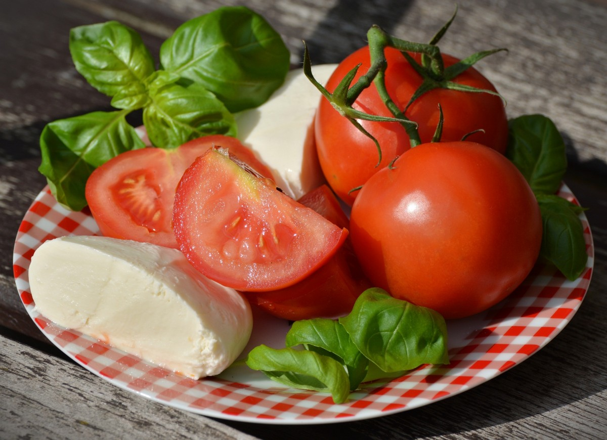 Пазл Собирать пазлы онлайн - Моцарелла и томаты
