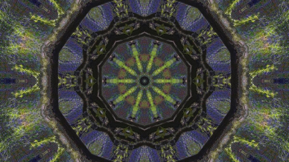 Пазл Собирать пазлы онлайн - Мозаичный калейдоскоп