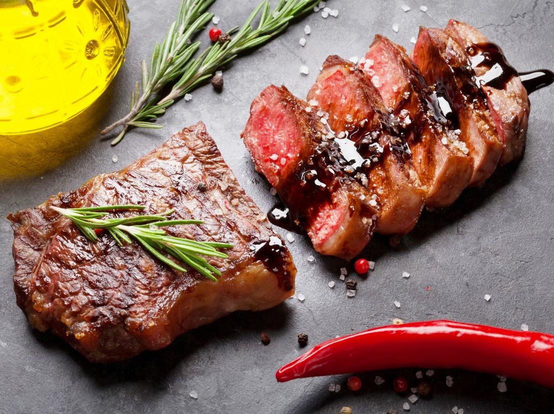 Пазл Собирать пазлы онлайн - Мясной стейк