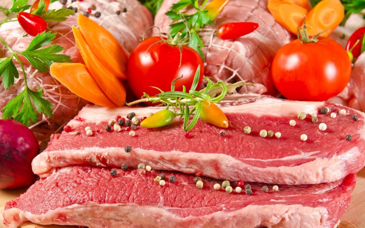 Пазл Собирать пазлы онлайн - Мясо и овощи