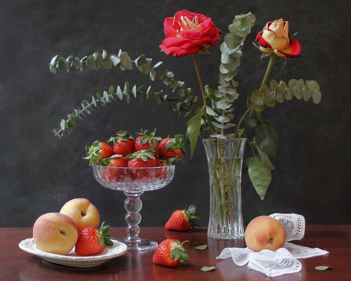Пазл Натюрморт с розами