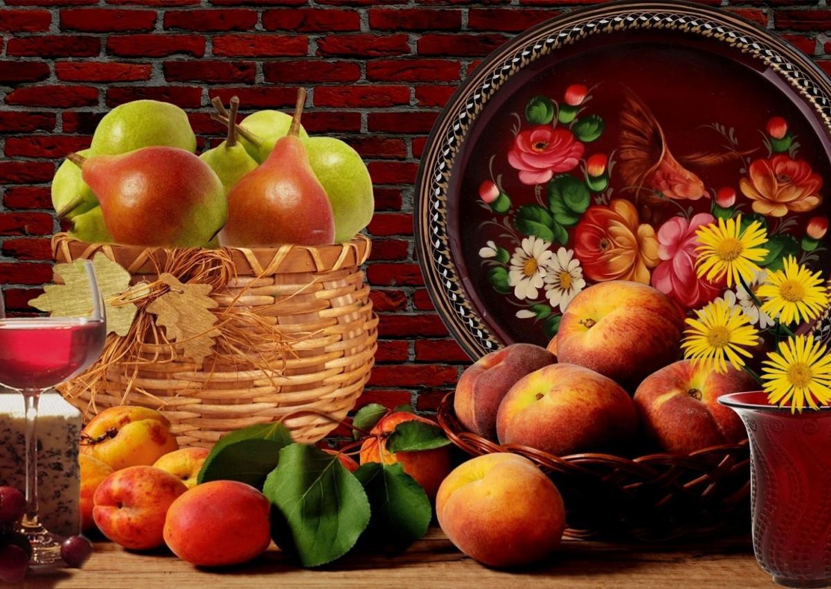 Пазл Собирать пазлы онлайн - Натюрморт с фруктами