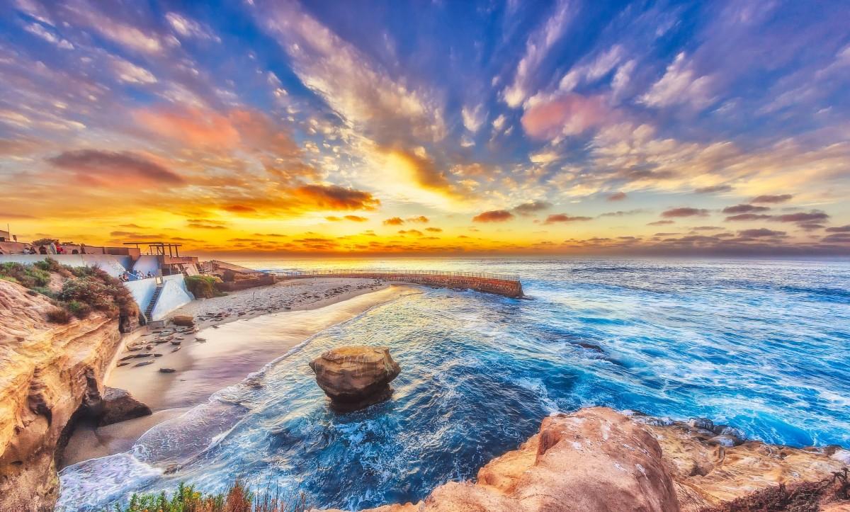 Пазл Собирать пазлы онлайн - Небо и море