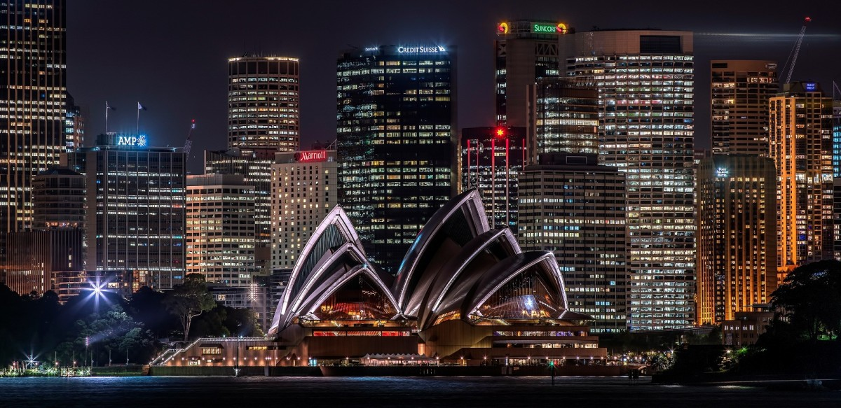 Пазл Собирать пазлы онлайн - Ночной Сидней