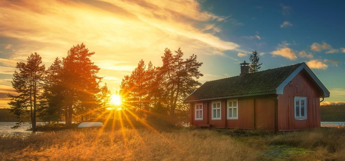 Пазл Собирать пазлы онлайн - Норвежское солнце