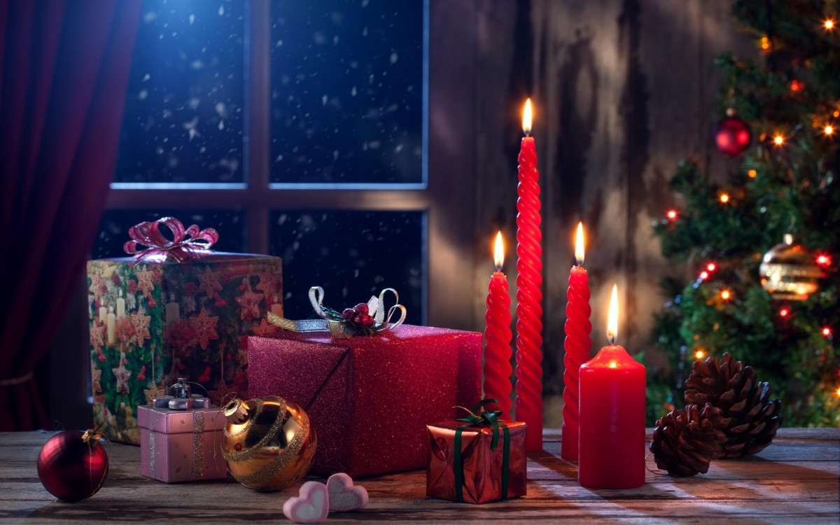 Пазл Собирать пазлы онлайн - Новогодние свечи