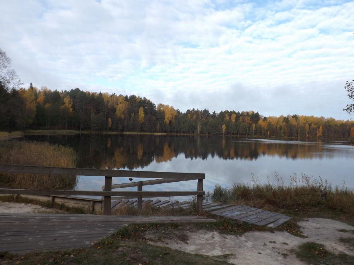 Пазл Собирать пазлы онлайн - Осеннее озеро