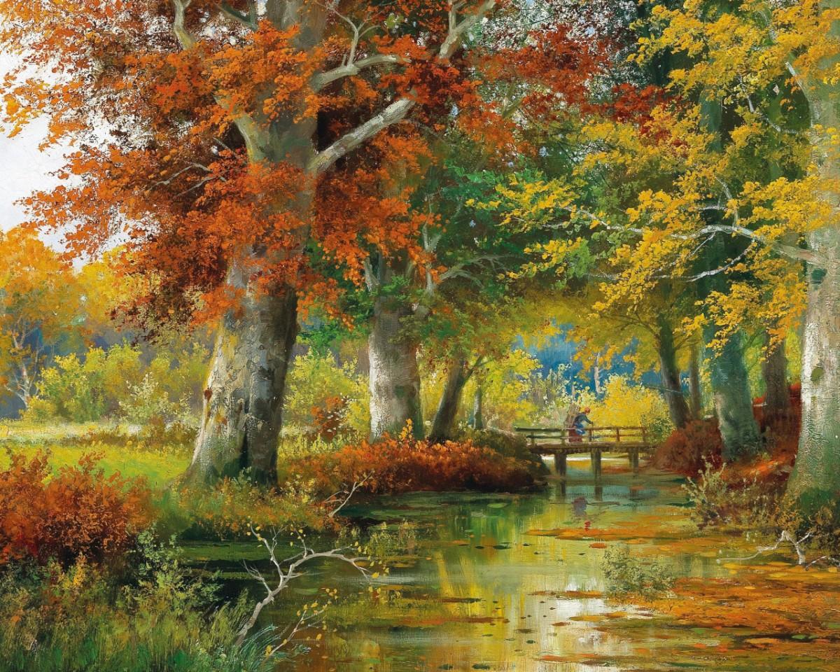 Пазл Собирать пазлы онлайн - Осенний пейзаж