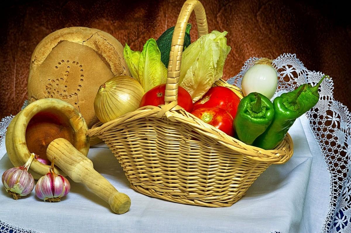 Пазл Собирать пазлы онлайн - Овощи в корзине
