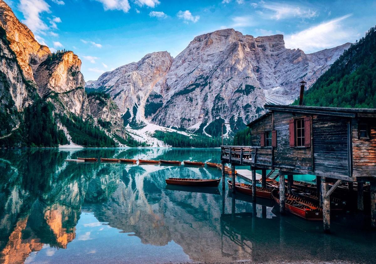 Пазл Собирать пазлы онлайн - Озеро Прагса