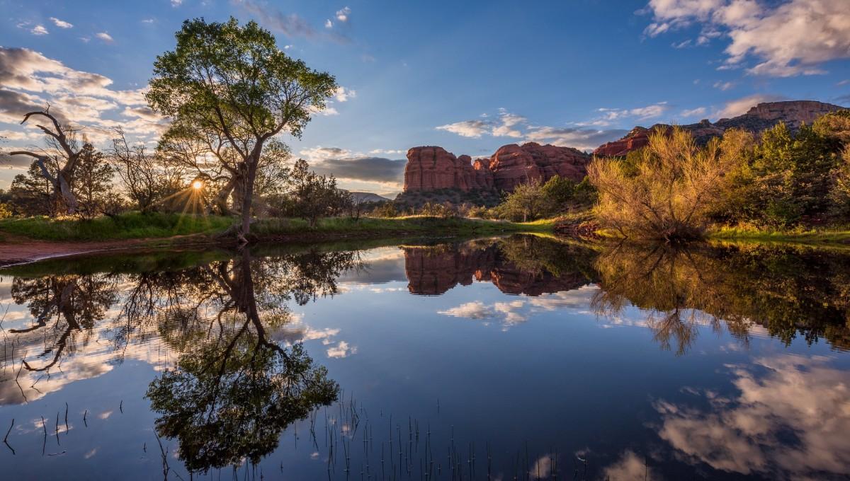 Пазл Собирать пазлы онлайн - Озеро в Аризоне
