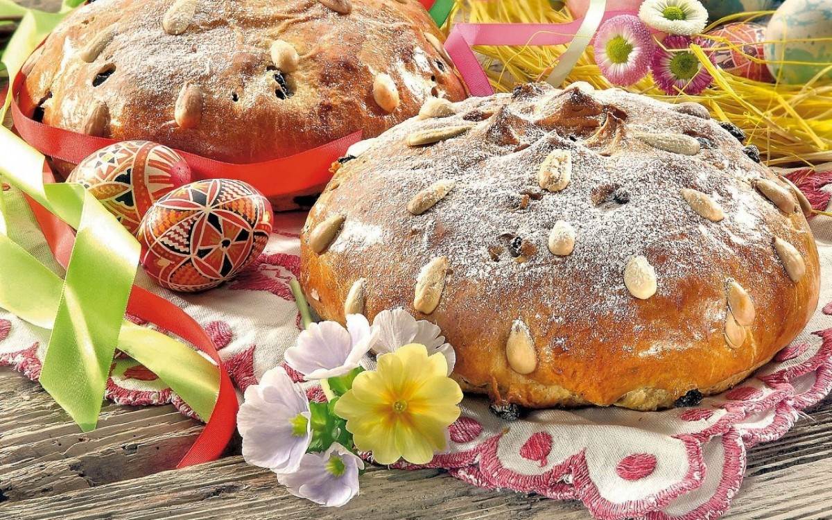 Пазл Собирать пазлы онлайн - Пасхальный хлеб