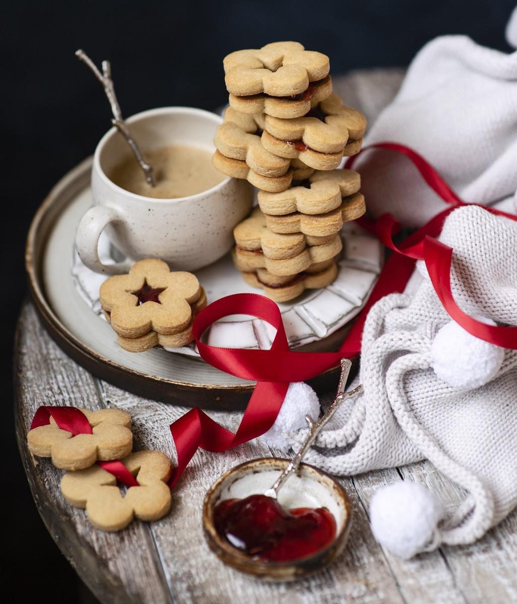 Пазл Собирать пазлы онлайн - Печенье и лента