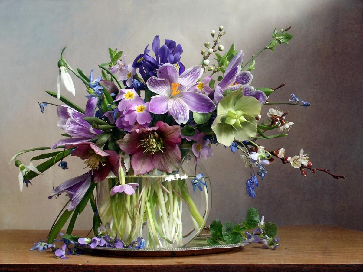 Пазл Собирать пазлы онлайн - Первые цветы