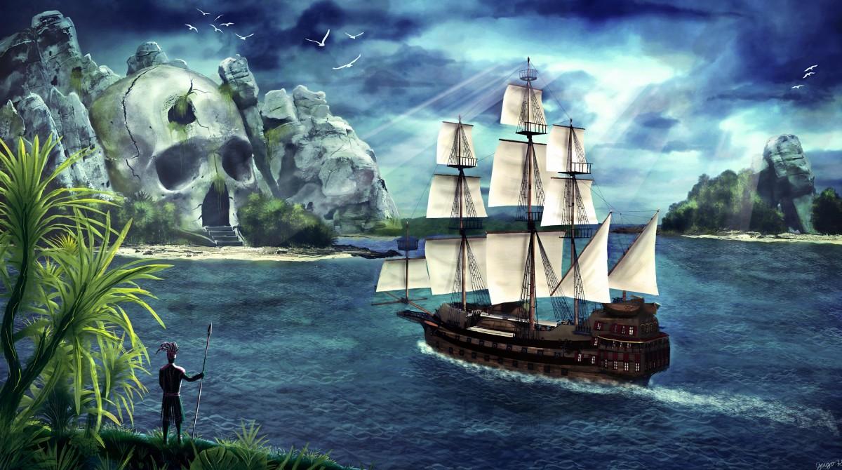 Пазл Собирать пазлы онлайн - Пиратский остров