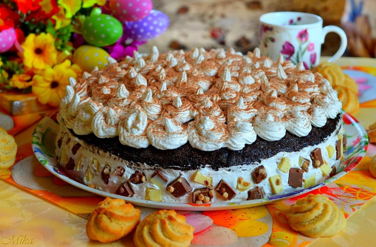 Пазл Собирать пазлы онлайн - Пирог с кремом