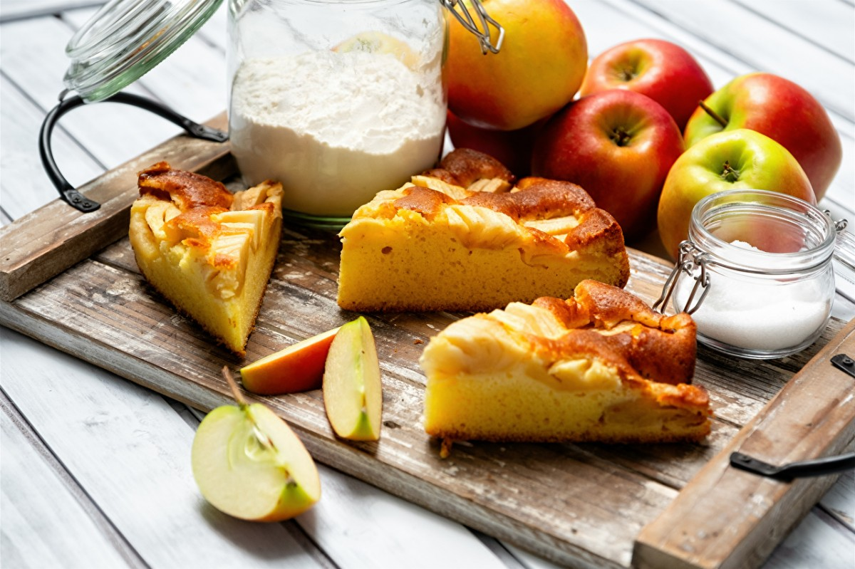 Пазл Собирать пазлы онлайн - Пирог с яблоками