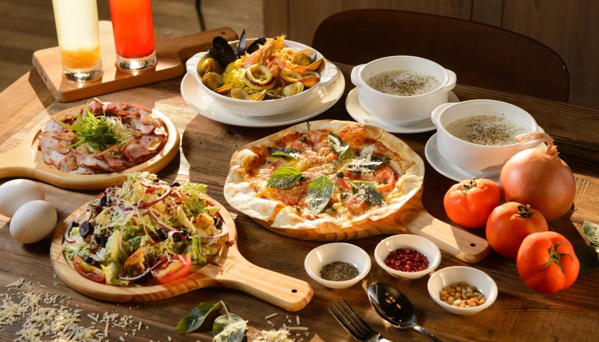 Пазл Собирать пазлы онлайн - Пицца и закуски