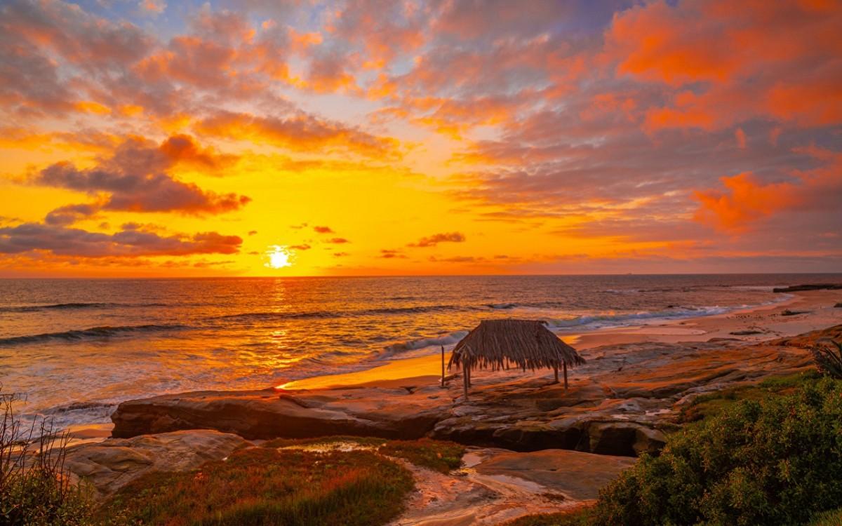 Пазл Собирать пазлы онлайн - Пляж в Калифорнии