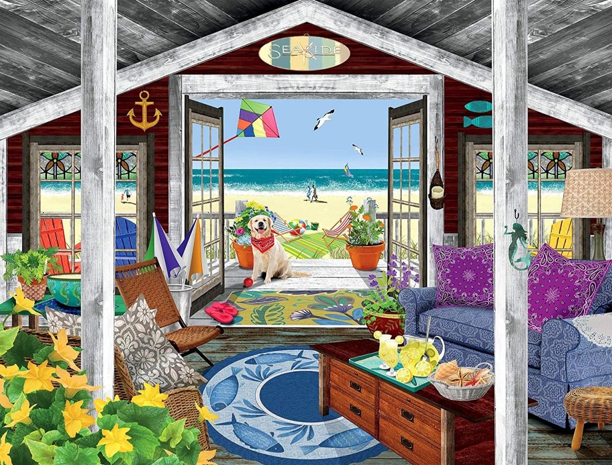 Пазл Собирать пазлы онлайн - Пляжный домик
