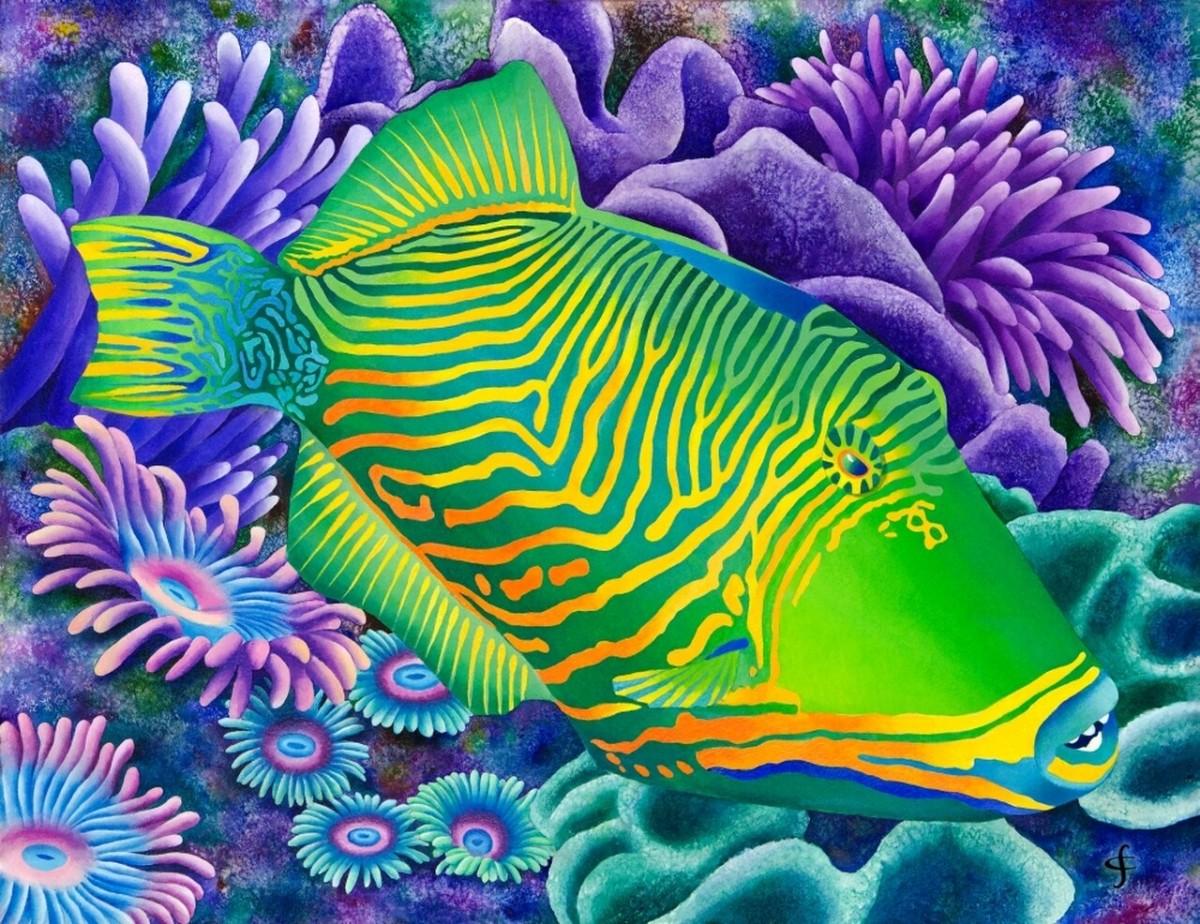 Пазл Собирать пазлы онлайн - Полосатая рыба