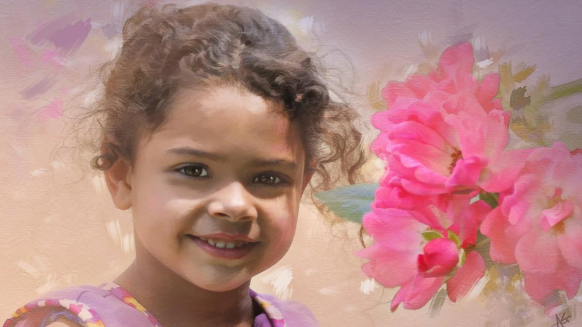 Пазл Собирать пазлы онлайн - Портрет девочки