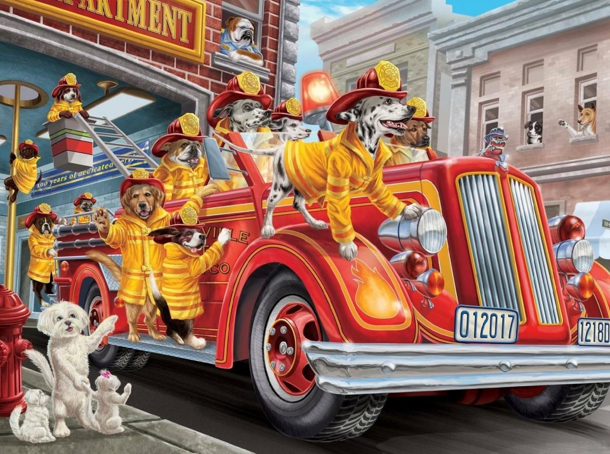 Пазл Собирать пазлы онлайн - Пожарная команда