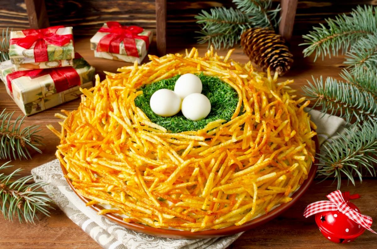 Пазл Собирать пазлы онлайн - Праздничный салат