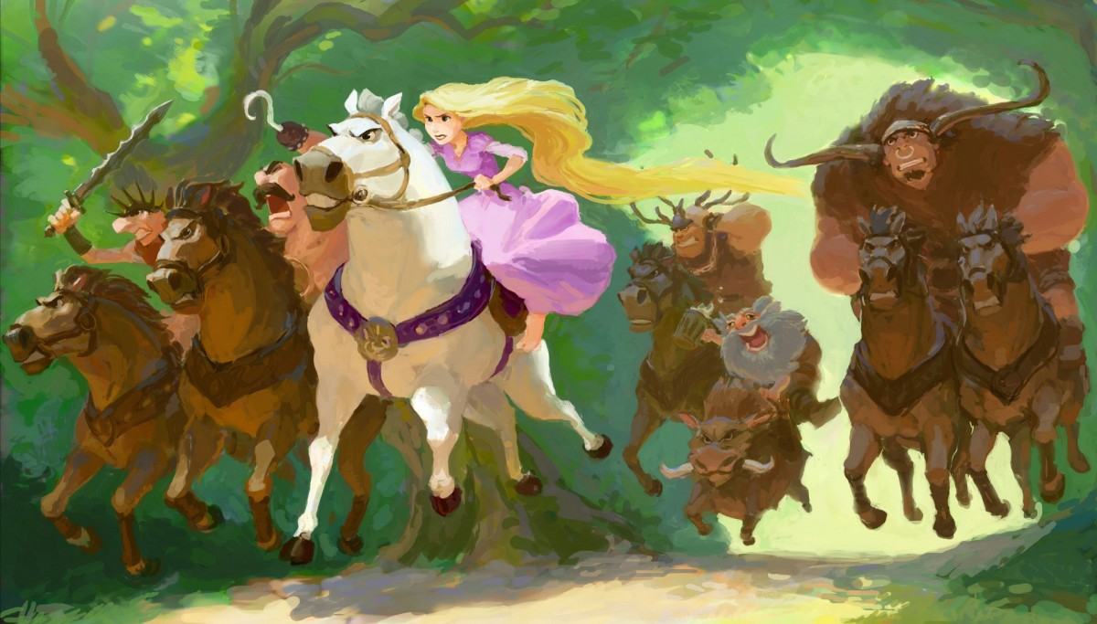 Пазл Собирать пазлы онлайн - Принцесса и банда