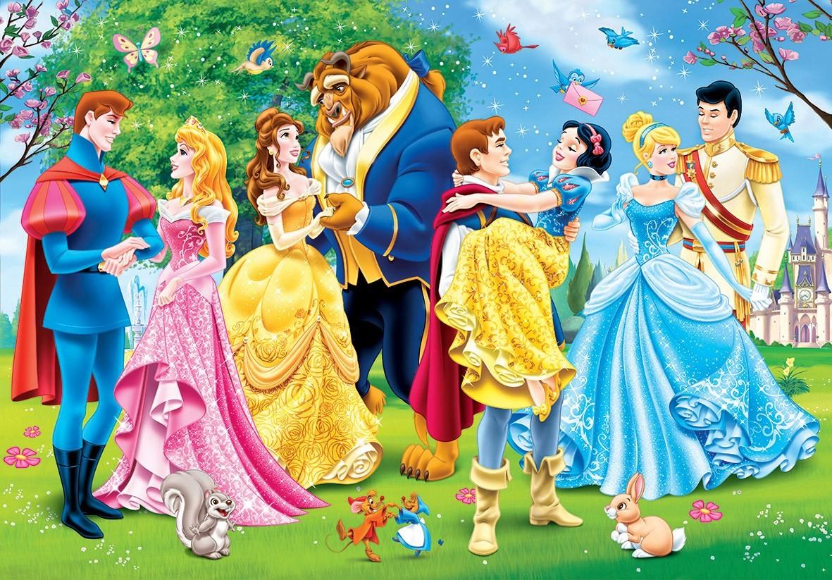 Пазл Собирать пазлы онлайн - Принцессы и принцы