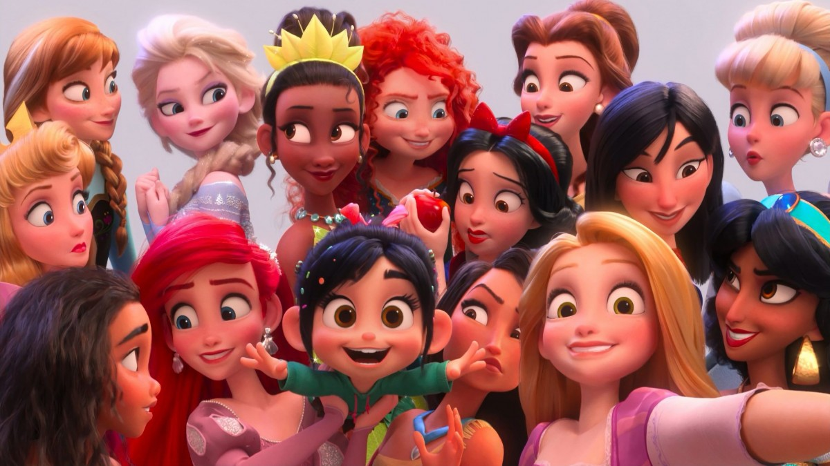 Пазл Собирать пазлы онлайн - Принцессы в 3-D