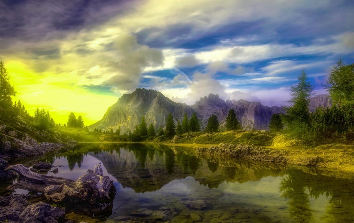 Пазл Собирать пазлы онлайн - Прозрачное озеро